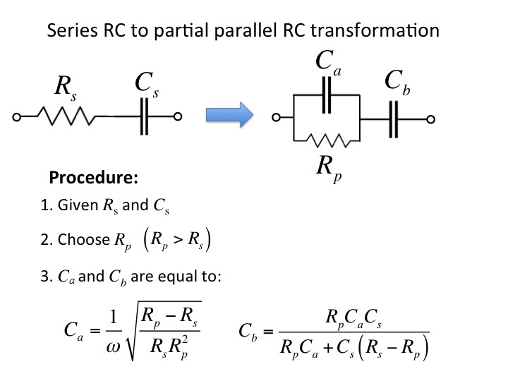 Series to Parallel Impedance Transformation