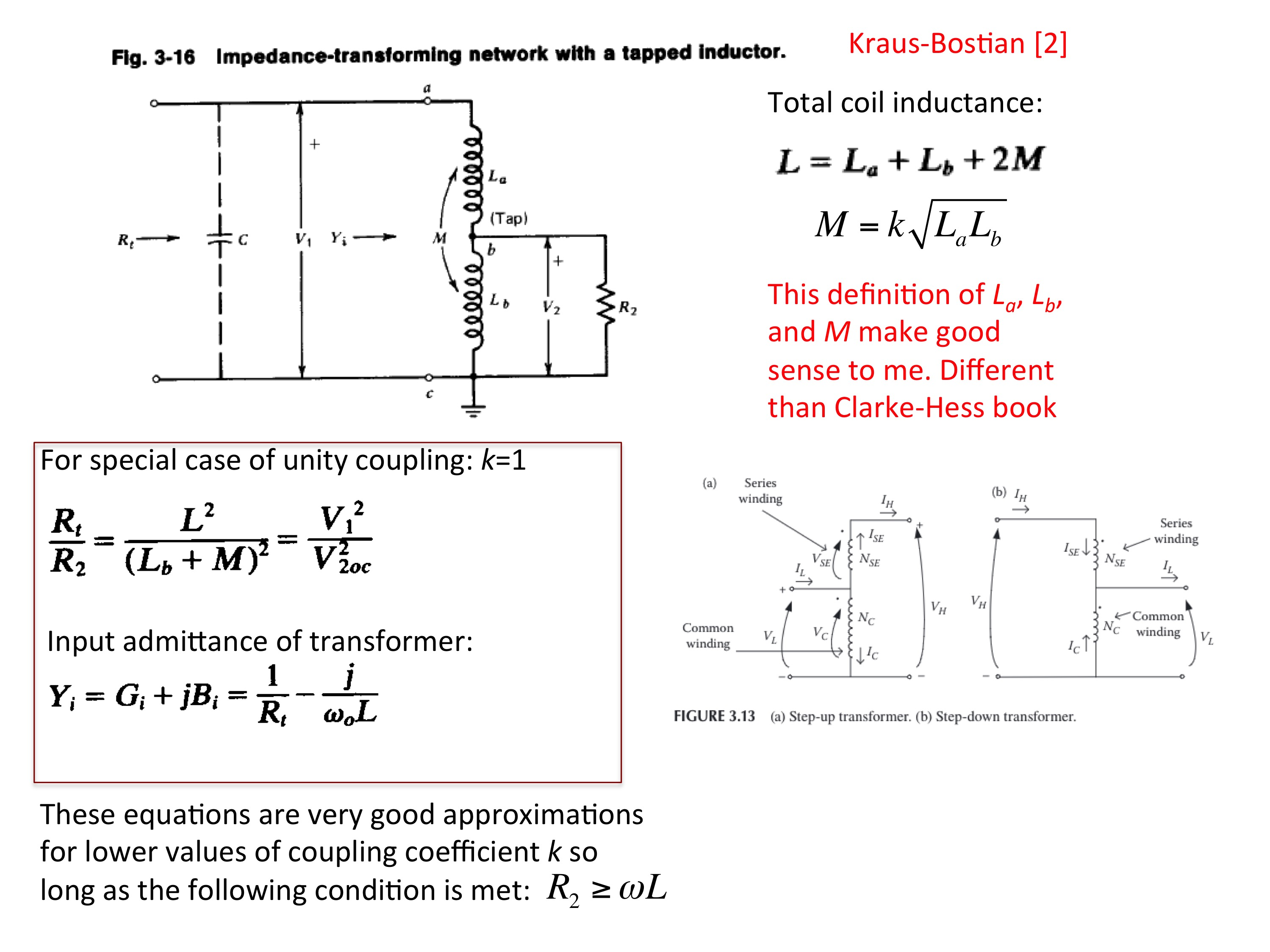 Resonant Coupling Networks Figure Antenna Matching Circuit 8 Tapped Inductor Auto Transformer Impedance