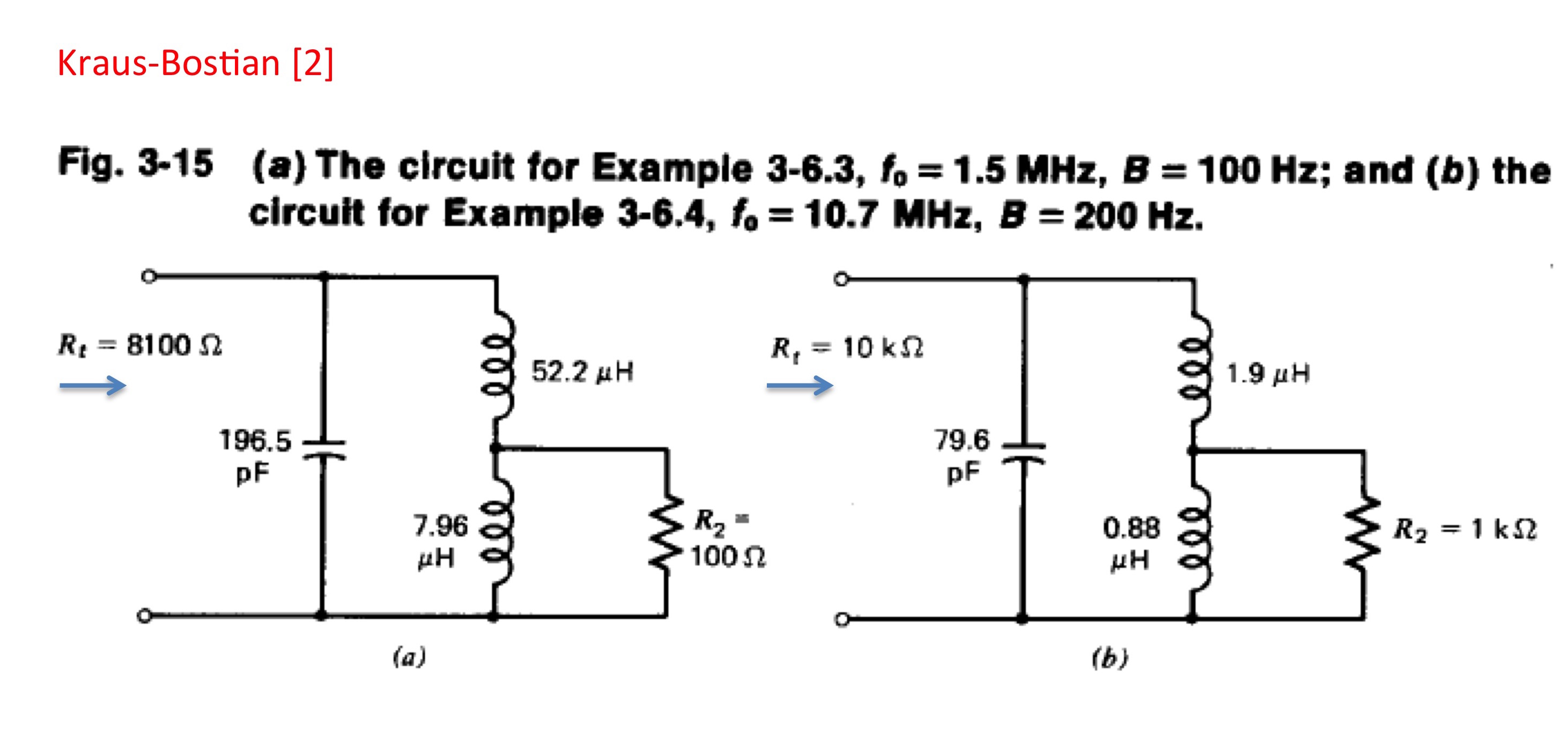 Resonant Coupling Networks Example Circuit Tapped Inductor Design