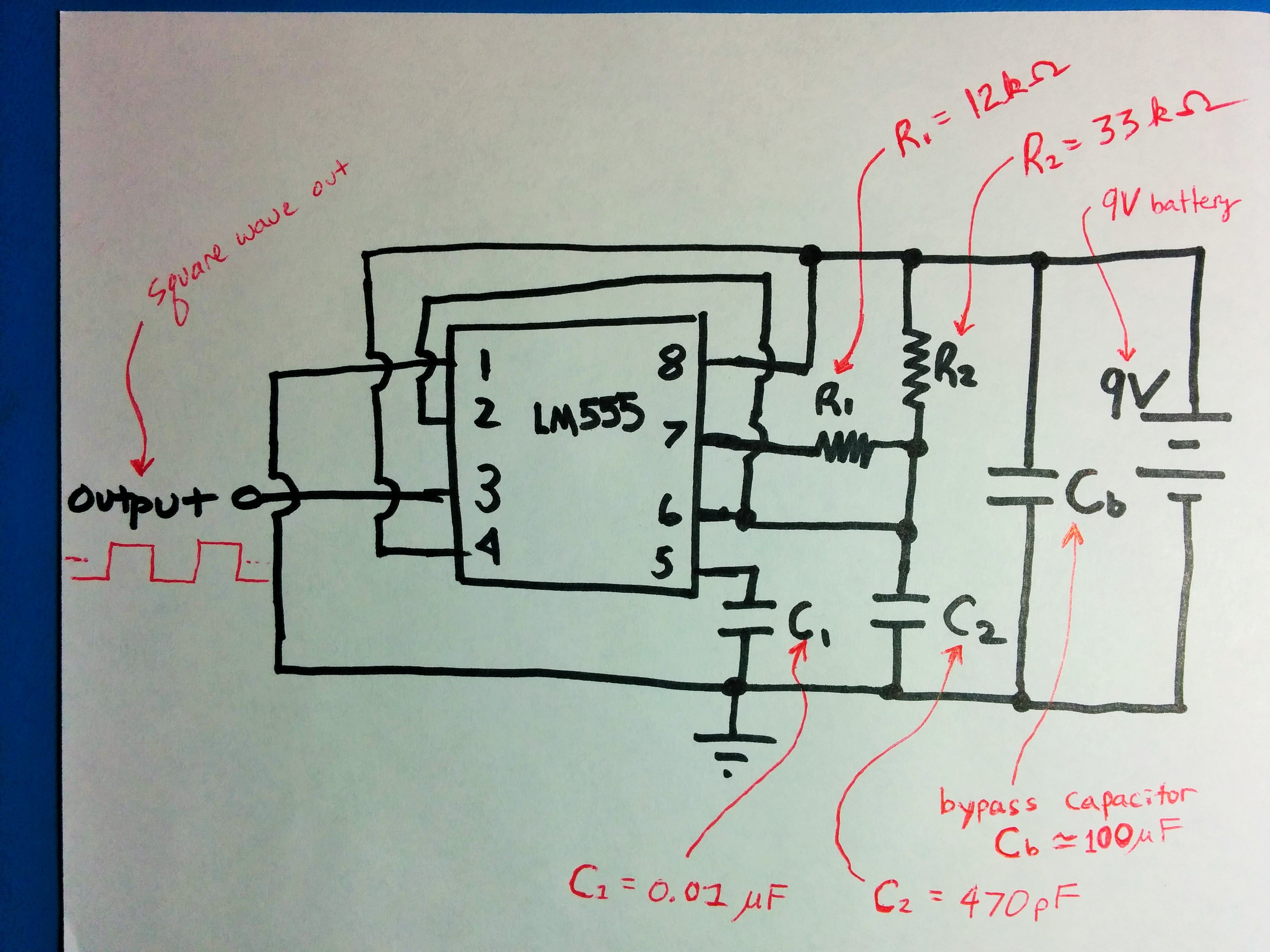 Em Experiment 2 Exploring The Bypass Capacitor Circuit Diagram Using 555 Timer Pic Figure 1 Schematic Of Lm555