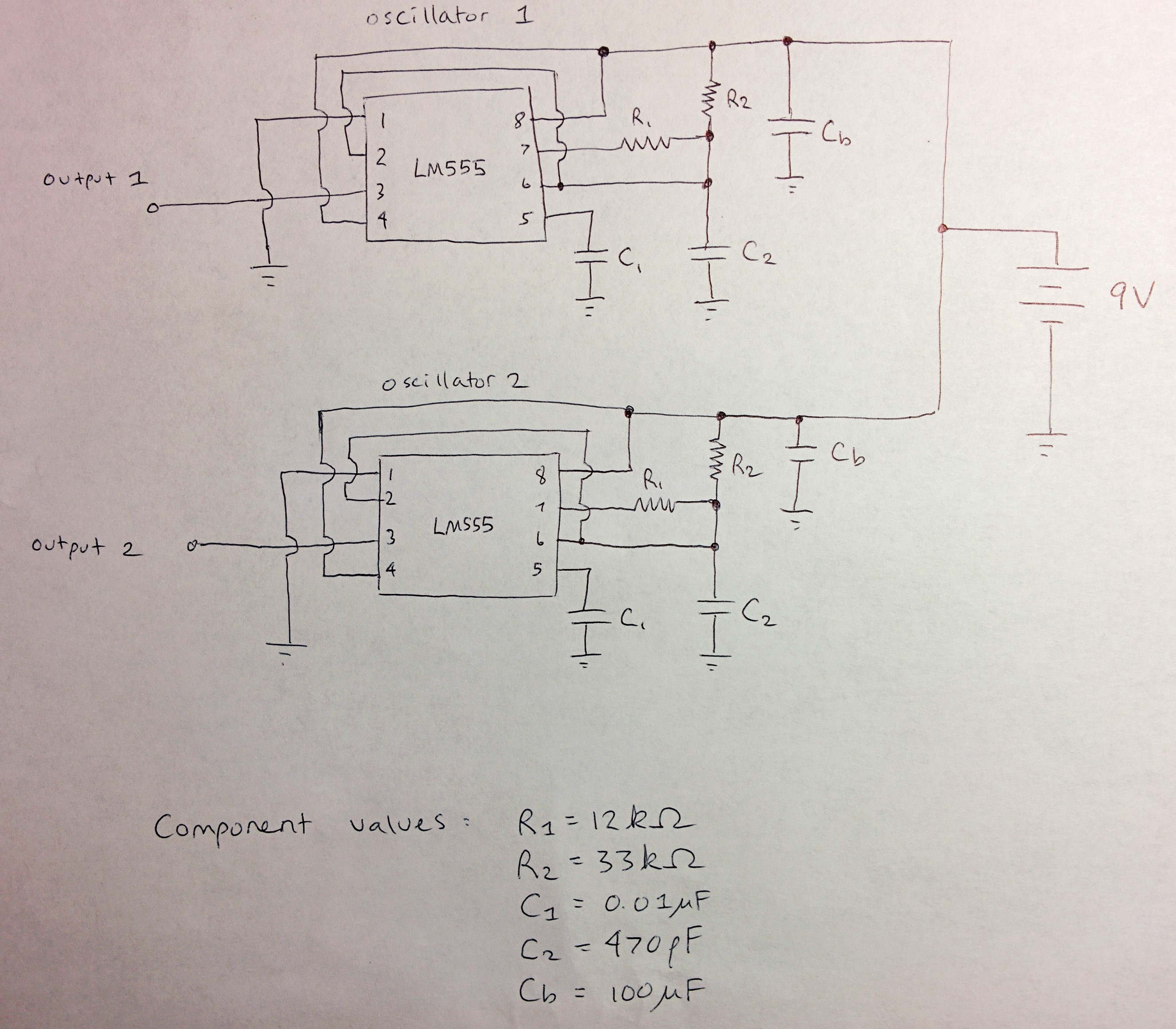 Em Experiment 2 Exploring The Bypass Capacitor Oscillator 555 50 Duty Cycle Circuit Schematic Diagram Figure 10 Of Two Oscillators