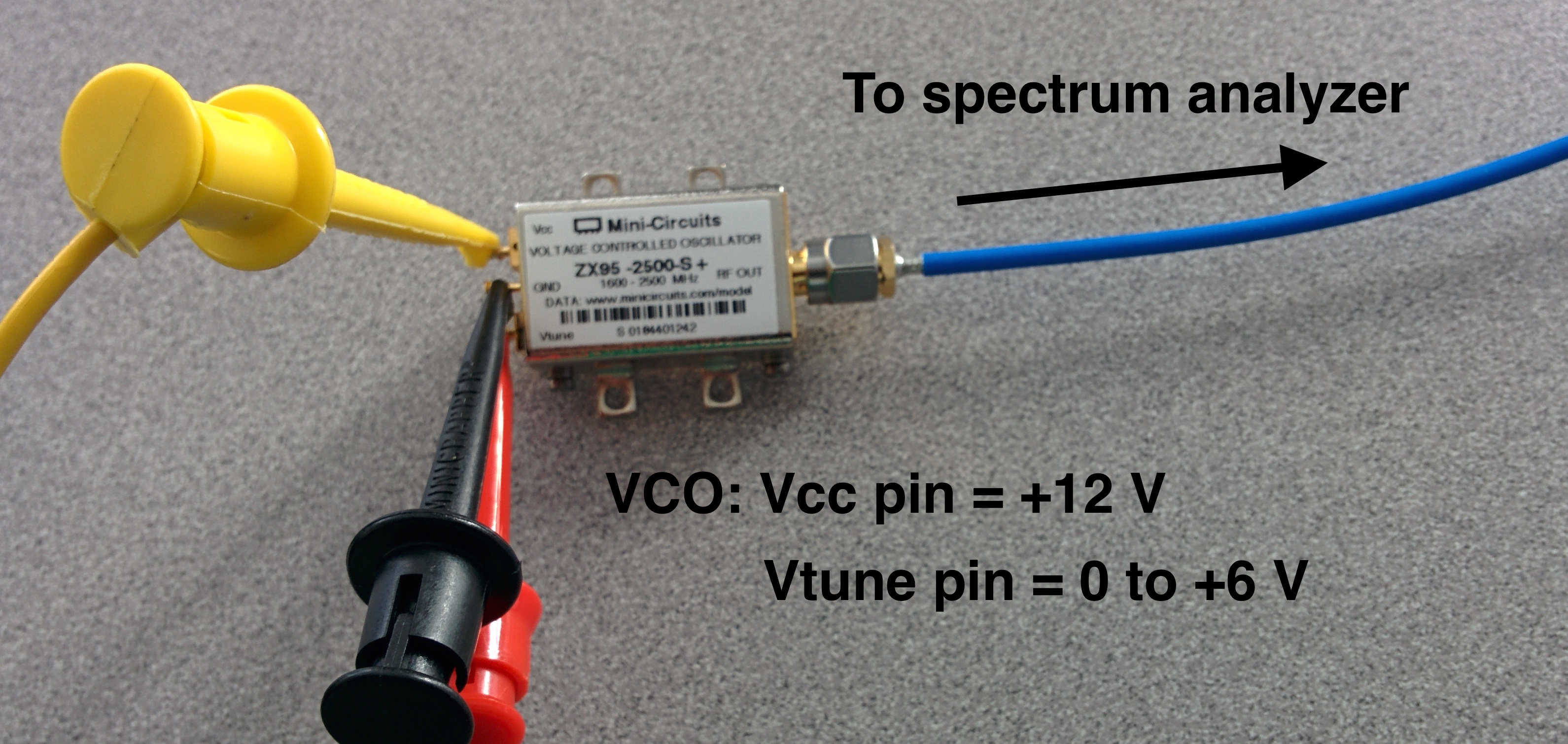 Em Experiment 5 Introduction To Rf Measurements Part 2 The Voltage Controlled Oscillator Vco Circuit That We Will Build Measurement Setup